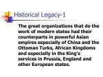 historical legacy 1