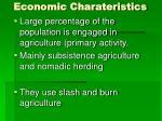 economic charateristics