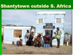 shantytown outside s africa