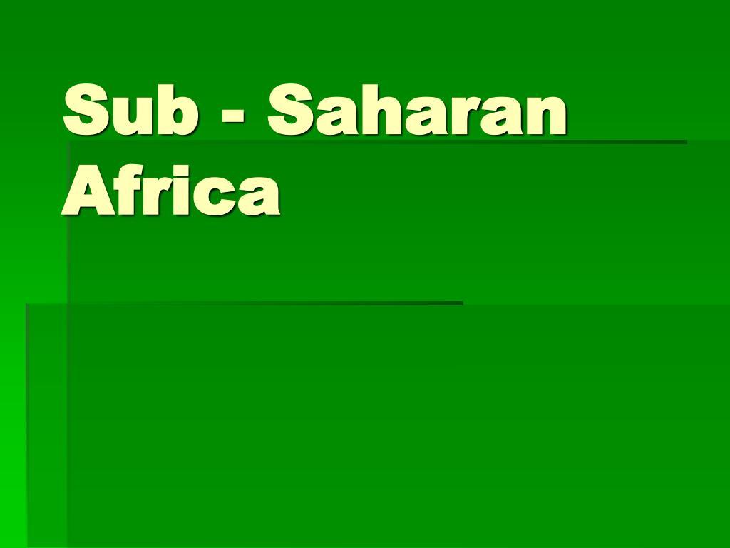 sub saharan africa l.