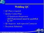 welding qc