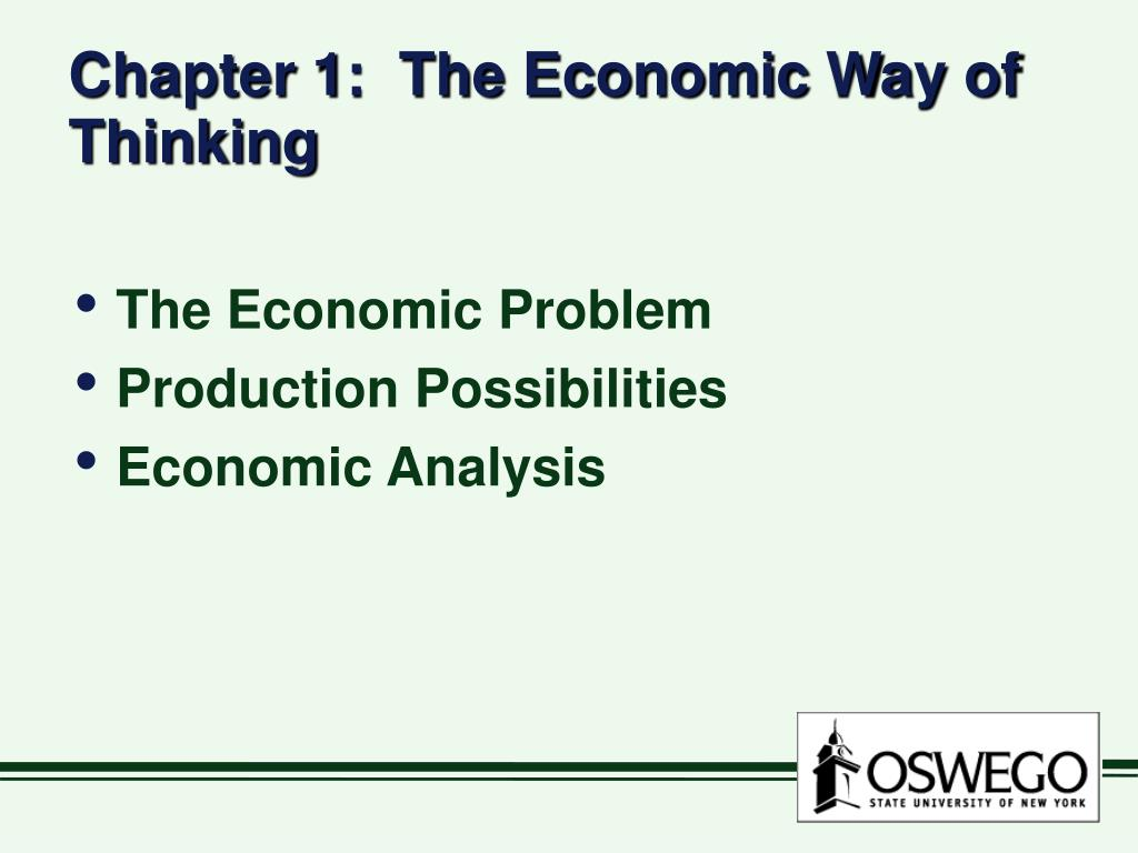 chapter 1 the economic way of thinking l.