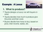 example a lexus