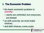 i the economic problem