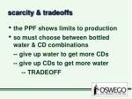 scarcity tradeoffs