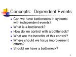 concepts dependent events