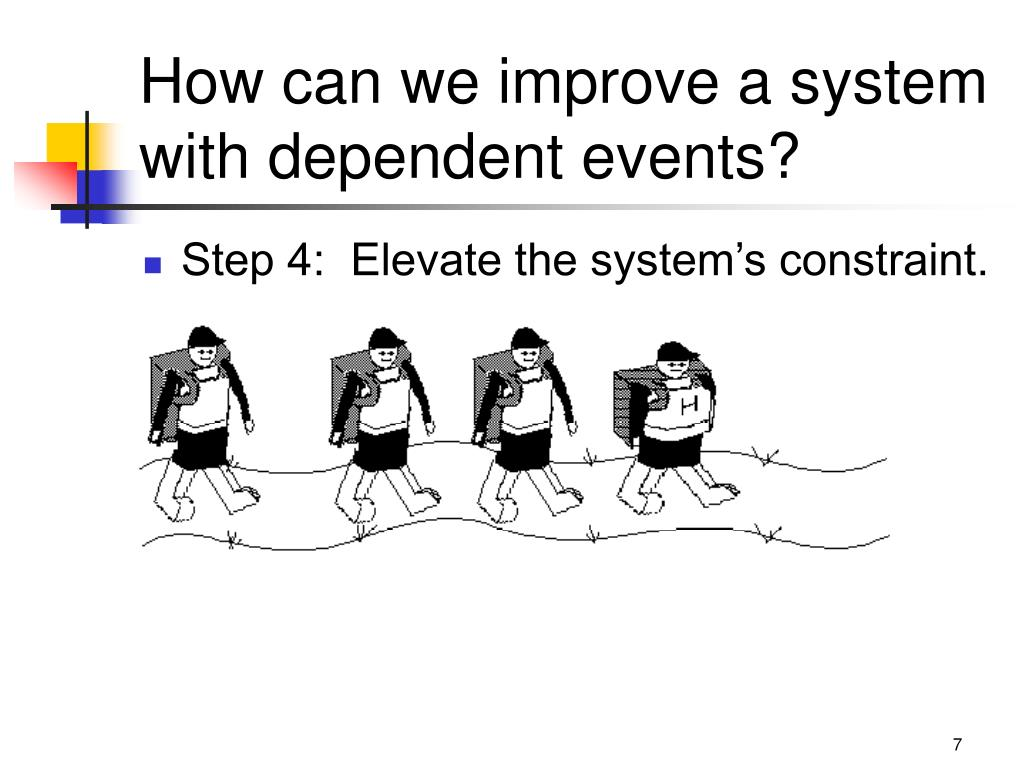 How can we improve a system with dependent events?