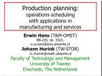 production planning operations scheduling with applications in manufacturing and services