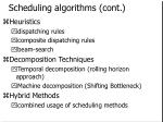 scheduling algorithms cont
