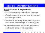 setup improvement10
