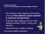 in class exercise process flow diagrams value adding activities