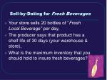 sell by dating for fresh beverages