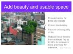 add beauty and usable space