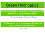 green roof basics