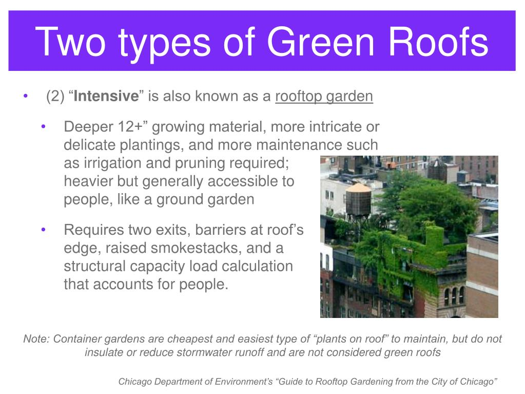 Two types of Green Roofs