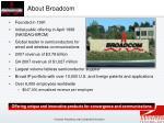 about broadcom