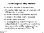 a message to map makers