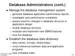 database administrators cont1