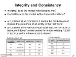 integrity and consistency