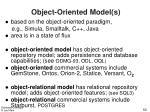 object oriented model s