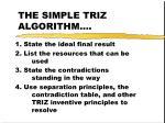 the simple triz algorithm