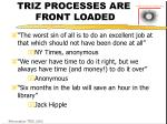 triz processes are front loaded