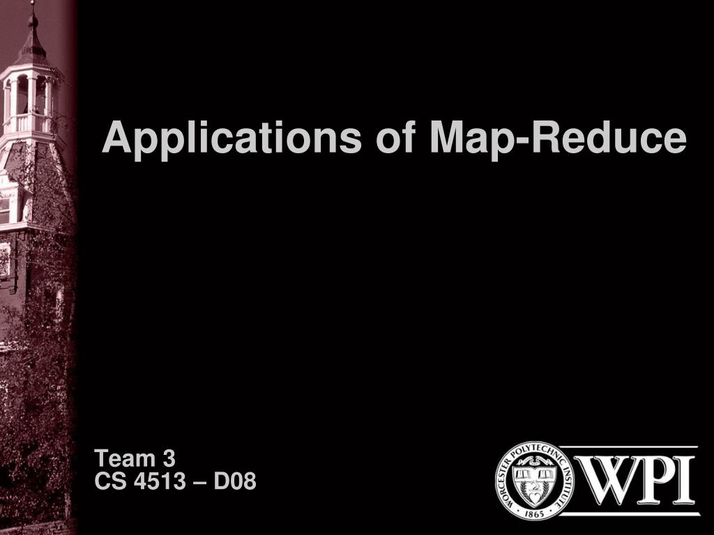 applications of map reduce l.