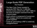 large scale pdf generation