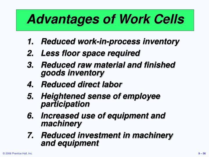 Advantages of Work Cells
