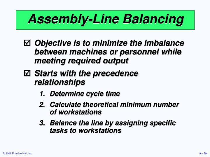 Assembly-Line Balancing