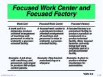 focused work center and focused factory1