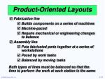 product oriented layouts
