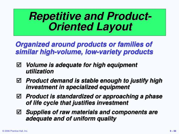 Repetitive and Product-Oriented Layout