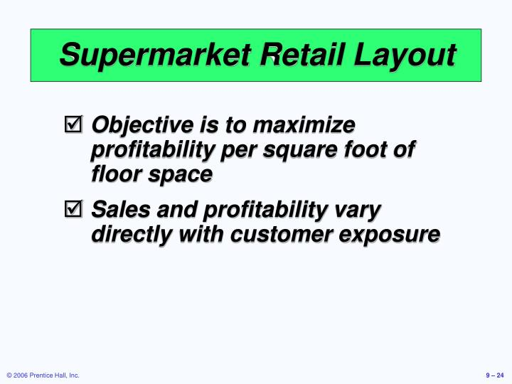 Supermarket Retail Layout