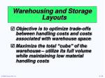 warehousing and storage layouts
