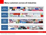 many customers across all industries