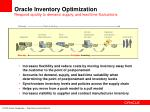 oracle inventory optimization