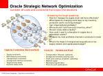 oracle strategic network optimization