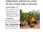 shredded mixed plastic films make great roads