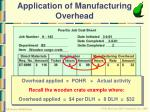 application of manufacturing overhead22