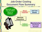 job order costing document flow summary32