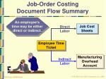 job order costing document flow summary33