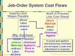 job order system cost flows37