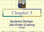systems design job order costing 2 16 04