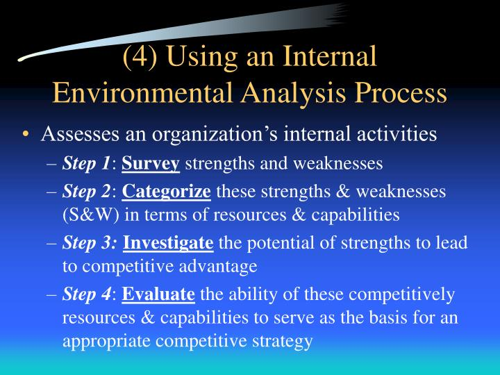 chapter 3 internal analysis Read chapter 3 the benchmarking process root cause analysis usually follows to assess the cause of internal benchmarking can be useful where no external.