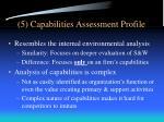 5 capabilities assessment profile