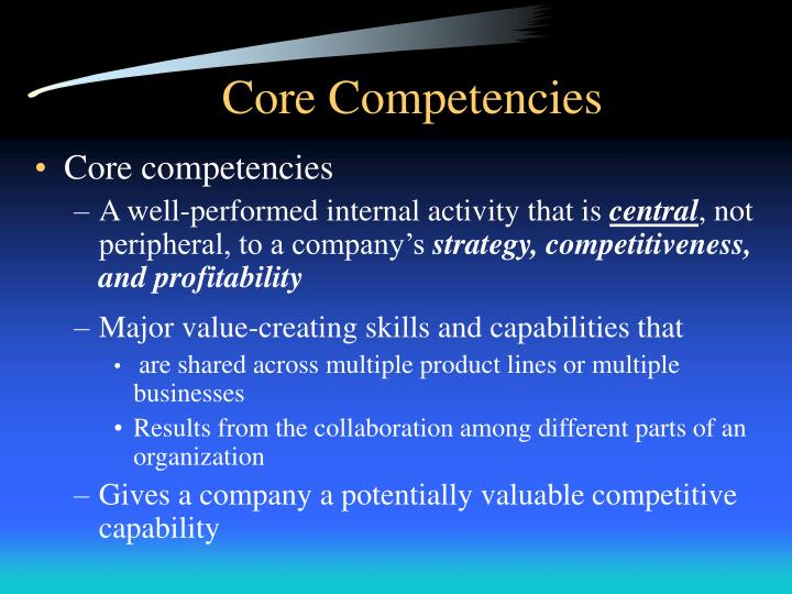 playstation core competencies Balancing outcomes: how sony corporation is leveraging its competencies, strategy and ethics policies to attain its corporate goals by farley j joseph 30 september 2014 2 executive summary this report aims to critically appraise the present organisational performance of sony corporation, specifically, the use of its core.