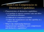 from core competencies to distinctive capabilities1