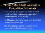 from value chain analysis to competitive advantage1