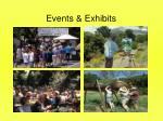events exhibits